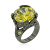 Hematite Yellow Stone Ring