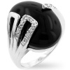 Black Egg Onyx Ring