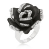 Onyx Bloom Cocktail Ring